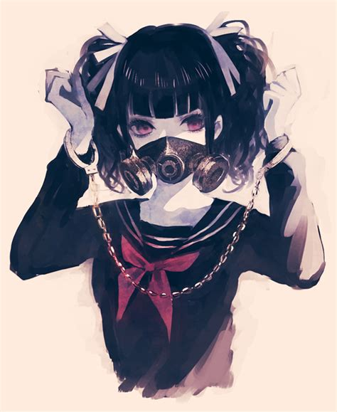 anime demon girl with short hair anime boy original black hair short hair horns demon red