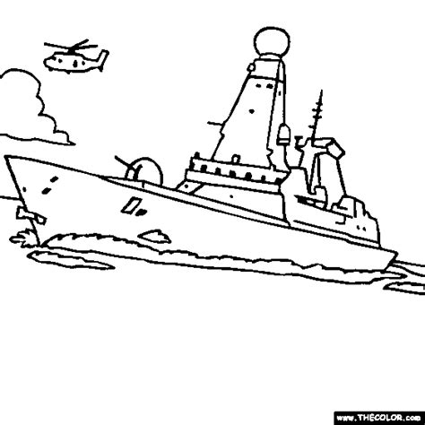 how to draw a navy boat free online coloring pages thecolor