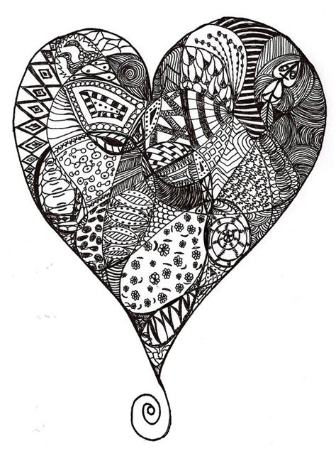 zentangle basket pattern 1st heart zentangle by heidipickels on deviantart