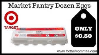 market pantry dozen eggs only 50 each at target