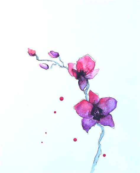 watercolor orchid tattoo 1000 ideas about watercolor orchid on