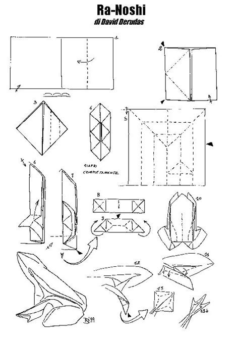 Origami Book Diagram - origami folding diagrams origami