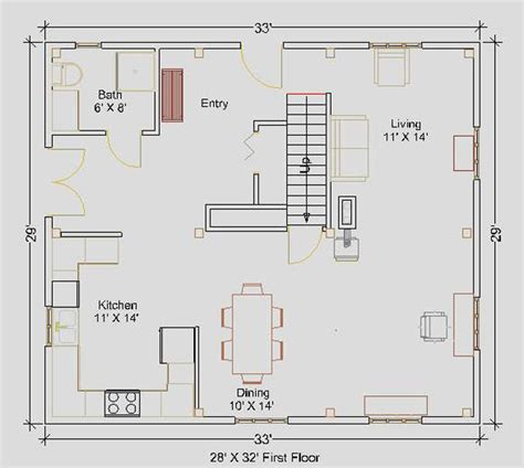 Small House Plans 24 X 32 24 X 28 House Plans