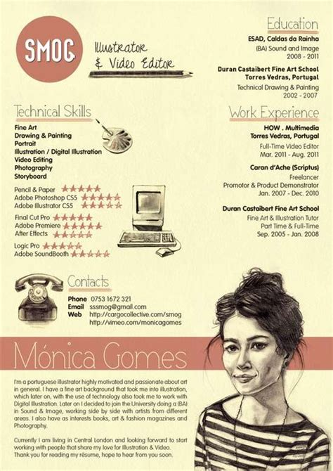 creative resume layout 18 exles of creative millennial resumes