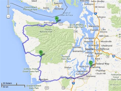 port angeles map the tueshaus family usa routes