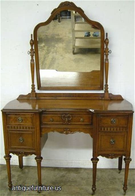 Value Of Antique Vanity With Mirror by Antique Burl Walnut Vanity With Mirror At Antique Furniture Us