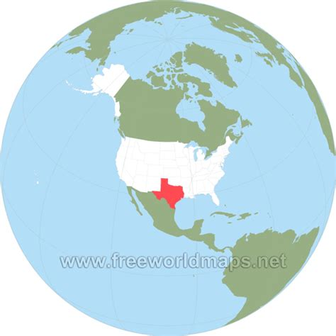 texas in world map where is texas located on the map