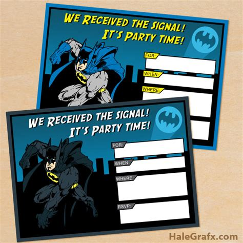 printable birthday invitations batman free printable batman birthday invitation set