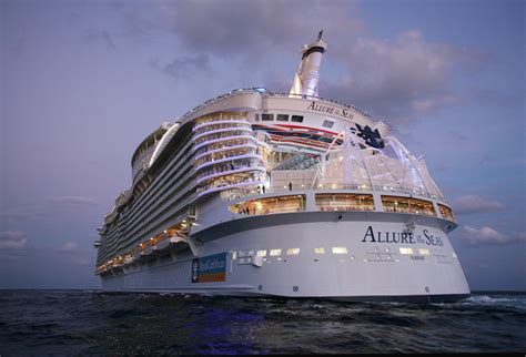 royal caribbeans newest ship allure of the seas described as the eighth wonder of the