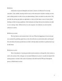reflection on nursing essay