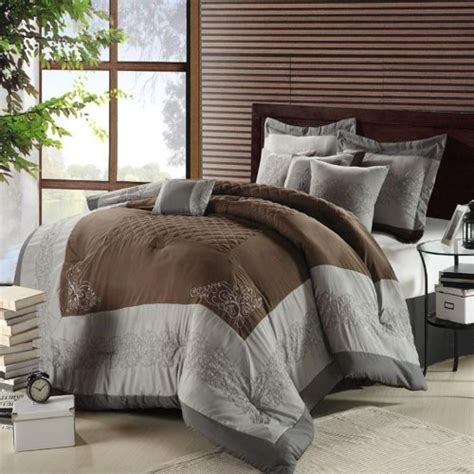 top 28 grey and brown comforter sets beautiful 7pc