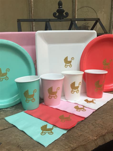 baby shower plates cups napkins baby shower cups plates and napkins baby stroller baby