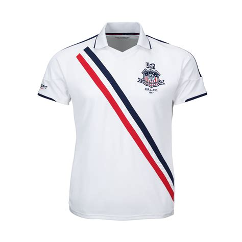 Polo Ralph Usa lyst ralph usa jersey polo shirt in white for