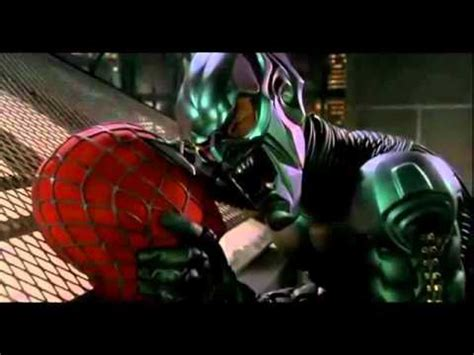 spiderman film green goblin spider man and the green goblin rooftop scene mov youtube