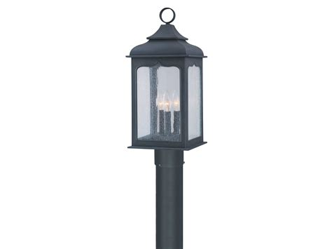 colonial outdoor lighting troy lighting henry colonial iron three light outdoor post light tlp2015ci