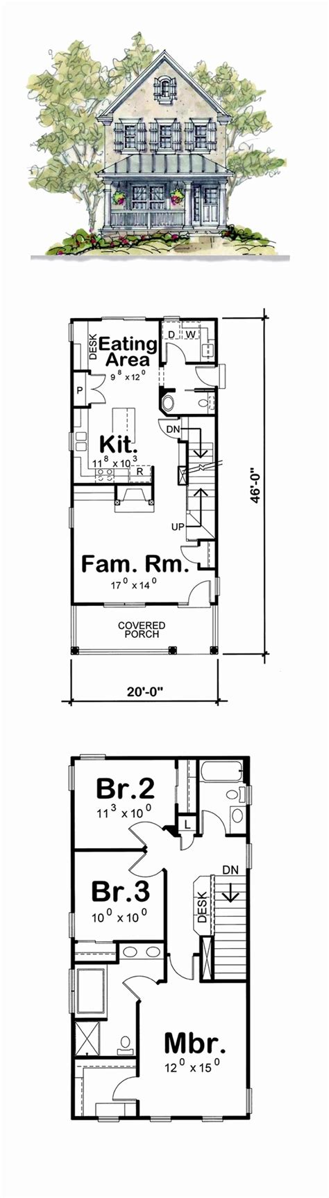 narrow lot 2 story house plans inspirational two story house plans for shallow lots