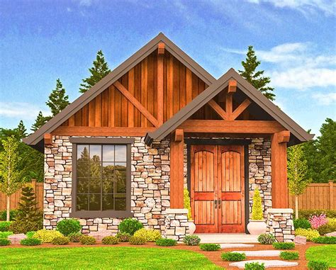 Rustic Vacation Home Plans by Rustic Guest Cottage Or Vacation Getaway 85106ms