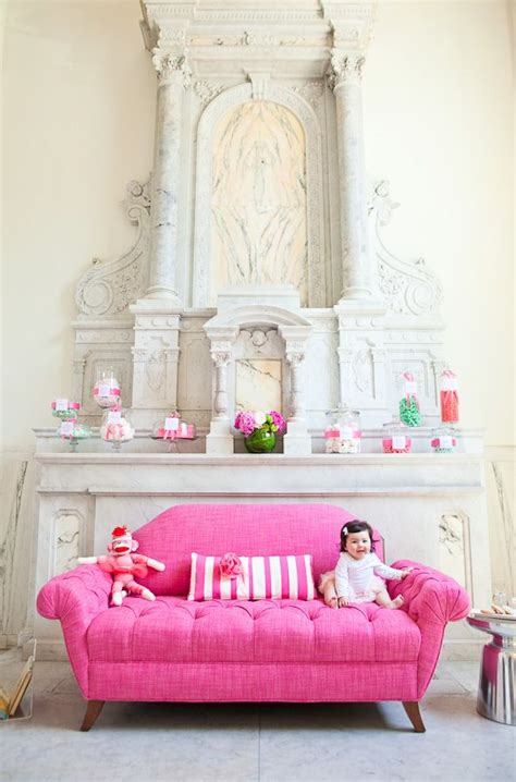 bright pink sofa 17 best images about pink furniture just for girls on