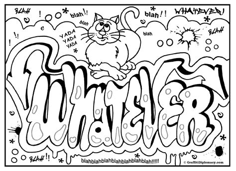 printable coloring pages graffiti omg another graffiti coloring book of room signs learn