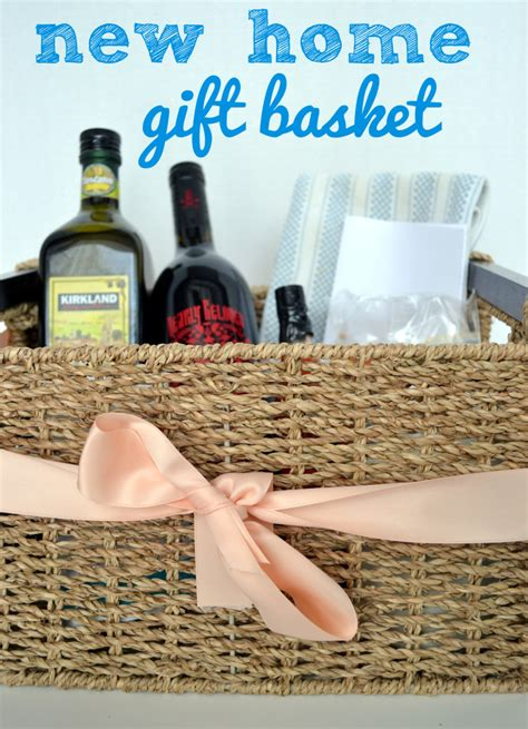 diy housewarming gift basket with a sentimental twist