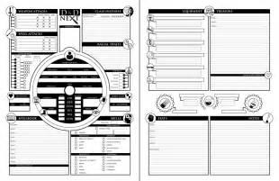 d d 3 5 templates homebrew character sheet contest finalists