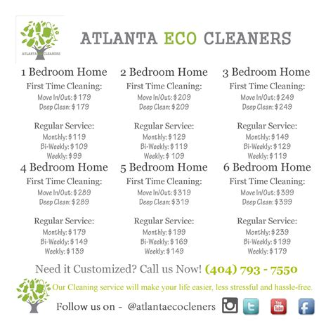 How To Price A House Cleaning by House Cleaning Prices Atlanta Eco Cleaners Premier House Cleaning And Service