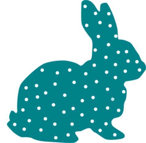 Dress Rabbit Kelinci bunny polka dot silhouette clip at clker vector clip royalty free