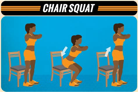 Chair Squats by At Home Bodyweight Workout With Everyday Items