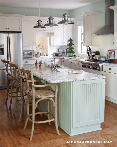 Folk art and shabby chic cottage in arkansas decorated for holidays