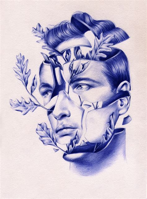 tattoo with bic pen these gorgeous drawings are 100 ballpoint pen creators