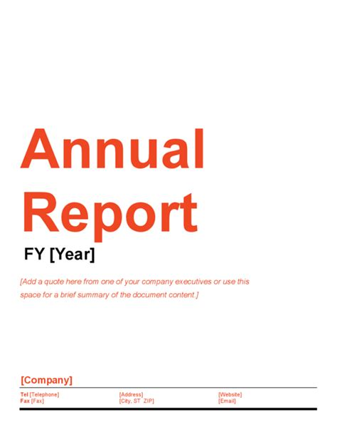 annual financial report template word annual report template legalforms org