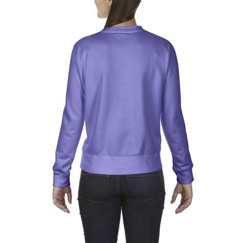 comfort colors violet cc1596 comfort colors crewneck sweatshirt violet