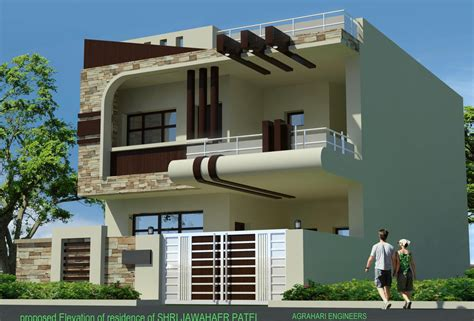 indian home front desing zion modern house