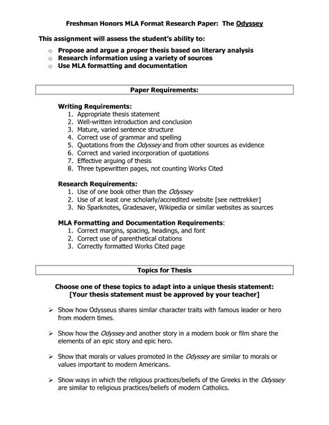 mla outline for research paper outline for research paper example