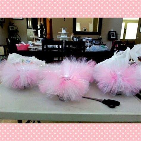 Tutu Baby Shower Decorations by Tutu Centerpieces Ballerina Baby Shower