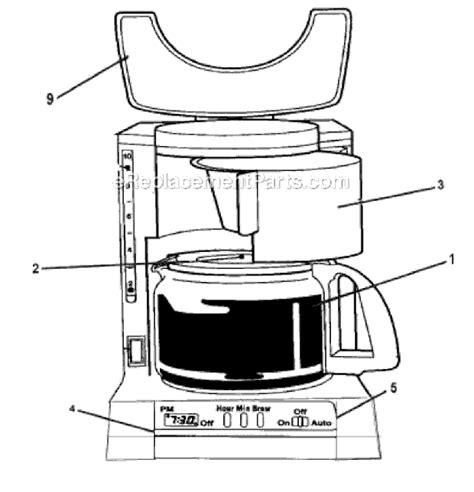 mr coffee parts diagram mr coffee adx13 parts list and diagram