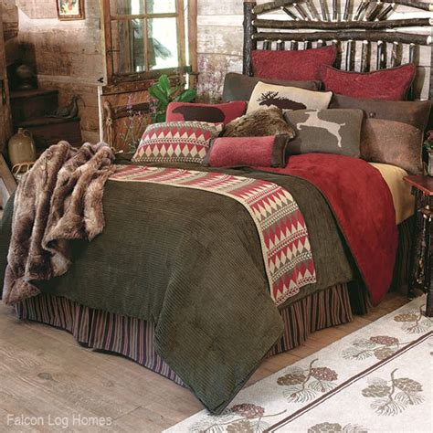 Log Cabin Bed Sets Lodge Decor Wilderness Lodge Bedding Set Log Homes Log Cabins And