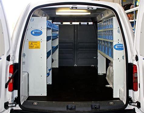 scaffali per furgoni fai da te allestimento caddy volkswagen l2 con cassettiere trasparenti