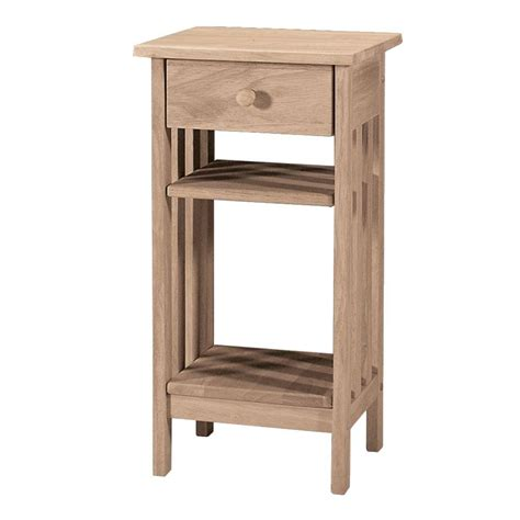 Unfinished Side Table International Concepts Unfinished Storage End Table 3072 The Home Depot