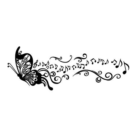 Alas Foto Motif Wall 50cm X 100cm Lebih Besar Dari A2 A1 vinilo decorativo mariposa musical