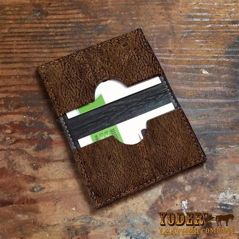 Hippo Brown brown hippo hide business or credit card wallet yoder
