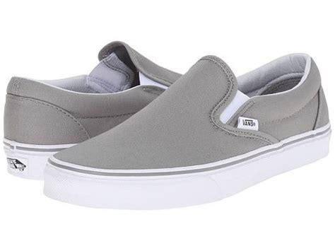 light gray slip on vans 17 best ideas about white slip on vans on vans