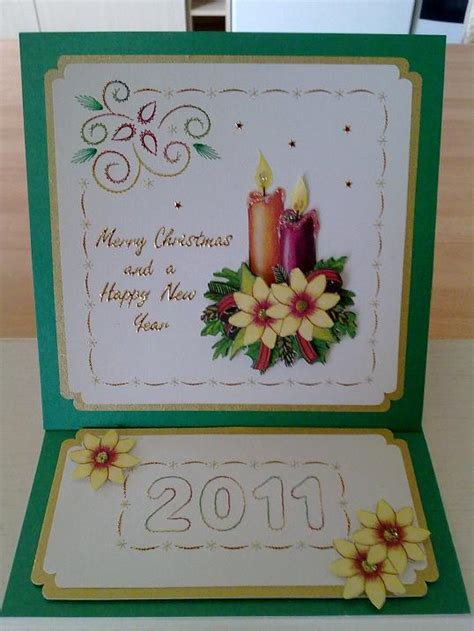 pattern for easel cards stitch a greeting xmas easel card