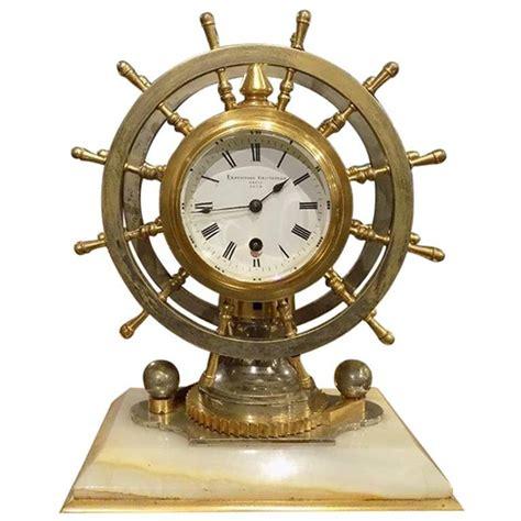 Nautical Desk Clocks by Novelty Nautical Revolving Ships Wheel Desk Clock Or
