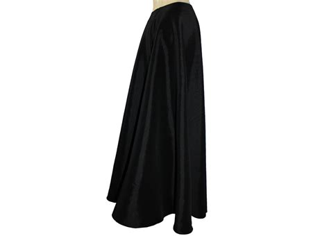 Black Formal Skirt Floor Length black taffeta skirt floor length formal evening maxi skirt xs