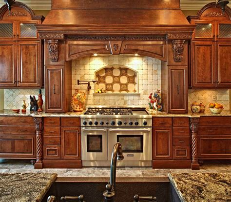 Tuscan Home Designs by Kitchen Spectacular Luxury Custom Backsplash Chimney
