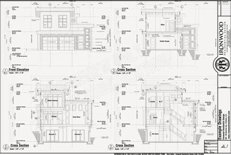 ironwood residential 187 construction plans exle set