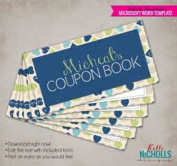 custom coupon book template printable s day custom coupon book gift for