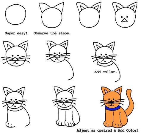 how to draw doodle cat 1 how to draw a cat dr