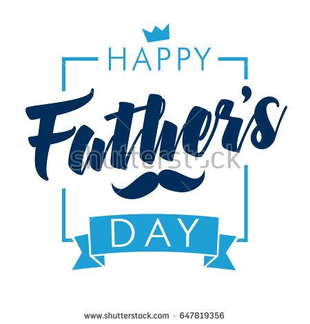 happy s day light up card template happy fathers day vector lettering background stock vector